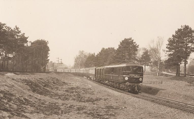 Golden Arrow at Bickley Junction - 19.3.55