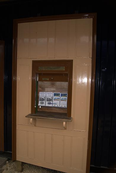 The booking office hatch converted to hold information leaflets